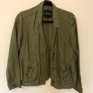 Madewell linen jacket size medium